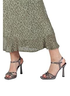 Modabuymus Modabuymus Taşlı Çapraz Bantlı Platform Topuklu Abiye Ayakkabı - Reul